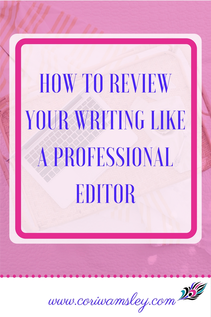 Research paper editing checklist